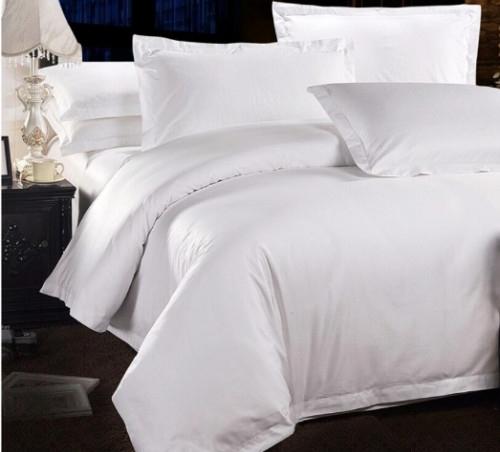 Plain white Egyptian Cotton- Duvet cover set, 500TC